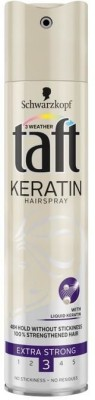 Schwarzkopf Taft Keratin Hair Spray Extra Stark Spray(249 ml)