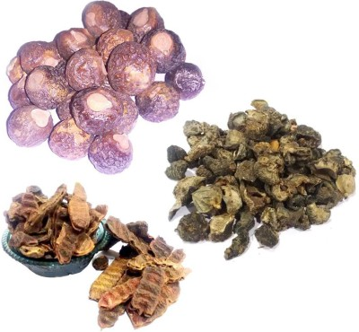 DCS Reetha, Amla, Shikakai (Raw Herb) Natural Form Combo Pack (300 Grams)(300 g) at flipkart