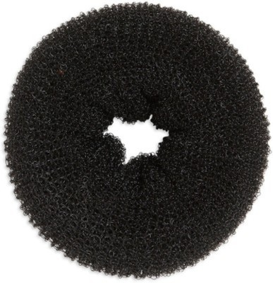 SENECIO™ Large 9.3cm Magic Hair Style Donut Maker Nylon Wire Stretchable Ring For Bun(Black)  available at flipkart for Rs.119