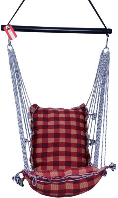 Kkriya Maarketing HANGING CHAIR & WASHABLE Cotton Swing(Black, White)