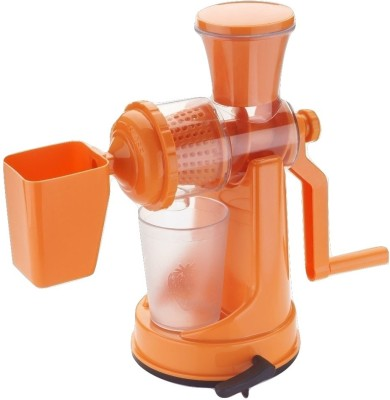 Shopo Plastic Hand Juicer Fruit And Vegetable Mixer With Waste Collector(Orange Pack of 1)