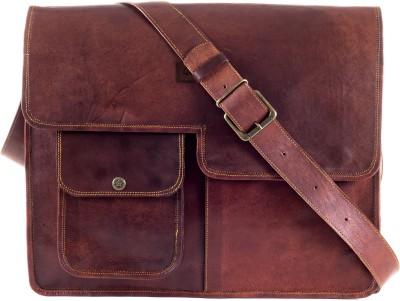 Goatter 16 inch Laptop Messenger Bag Brown Goatter Laptop Bags