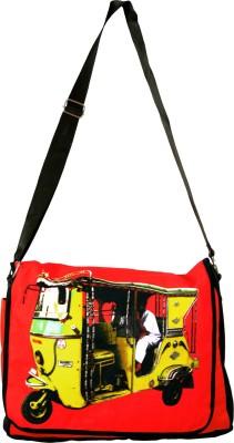 Fatfatiya Messenger Bag(Yellow, Red), Red;yellow
