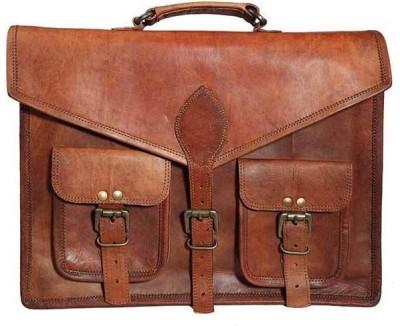 Pranjals House Men Brown Messenger Bag Pranjals House Messenger Bags