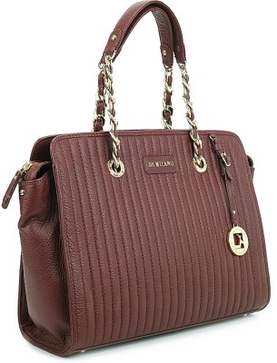 Da Milano Hand-held Bag(Maroon)