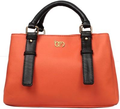Bagsy Malone Hand-held Bag(Orange, Black)