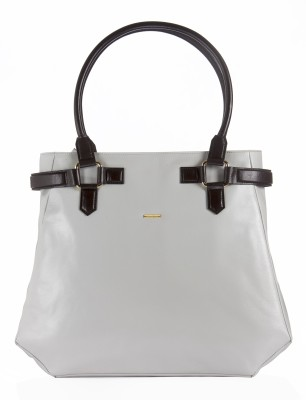Sharav Hand-held Bag(Grey, Brown)