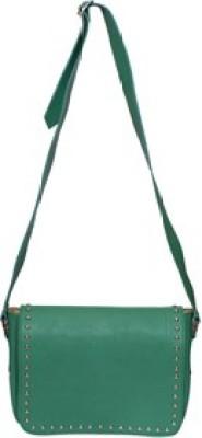 Essart Men & Women Green PU Sling Bag