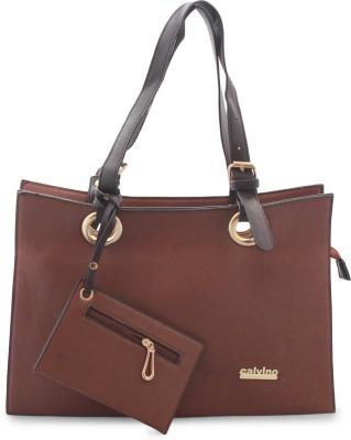 Calvino Hand-held Bag(Brown)