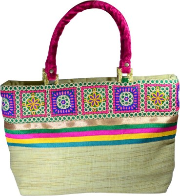 Arisha Kreation Co Hand-held Bag(Beige)