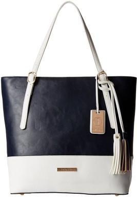Stella Ricci Women White, Blue Shoulder Bag at flipkart