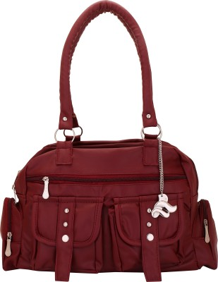 Lady Bar Hand-held Bag(Maroon)