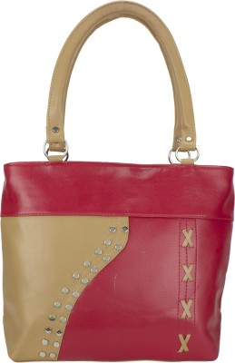 Govind Hand-held Bag(Red, Brown)