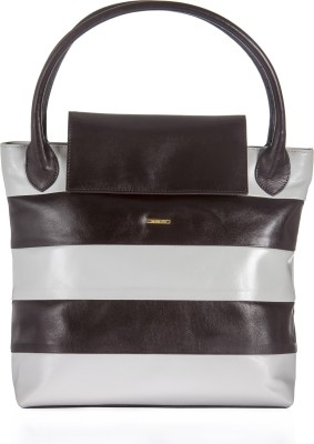 Sharav Hand-held Bag(Grey, Brown)