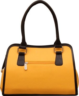 Fostelo Hand-held Bag(Black, Yellow)