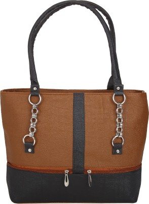 Mukul Collection Hand-held Bag(Black, Brown)