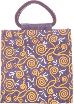Jute Cottage Hand-held Bag(Purple)