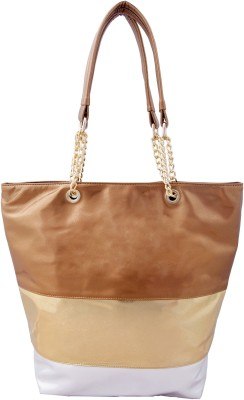 Lychee Bags Tote(Multicolor, Gold) at flipkart