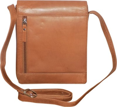 ba10c7f4e0 45% OFF on Kan Brown Pure Leather Cross Body Bag Small Travel Bag For Men  and Women Small Travel Bag - Medium(Brown) on Flipkart