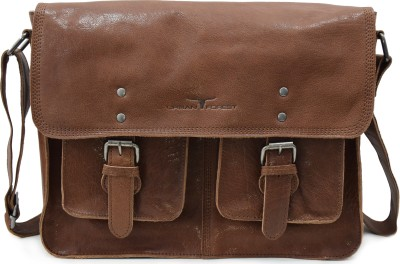 URBAN FOREST Men Brown Messenger Bag URBAN FOREST Messenger Bags