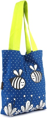 Kanvas Katha Women White, Blue Tote