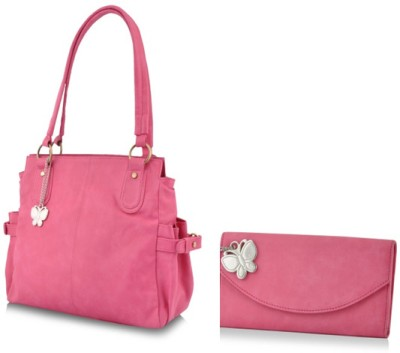 BUTTERFLIES Hand-held Bag(Pink)