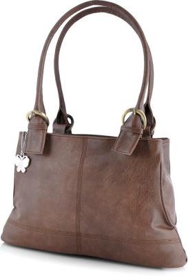 BUTTERFLIES Hand-held Bag(Brown)