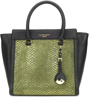 Da Milano Hand-held Bag(Black, Green)
