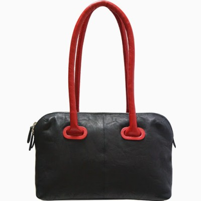 Jeane Sophie Hand-held Bag(Black, Red)