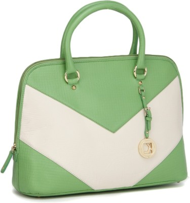 Da Milano Hand-held Bag(Beige, Green)