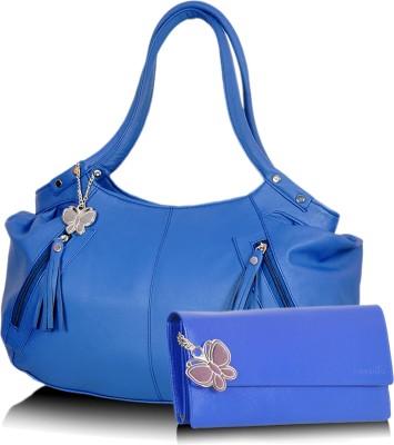 BUTTERFLIES Hand-held Bag(Blue, Blue)