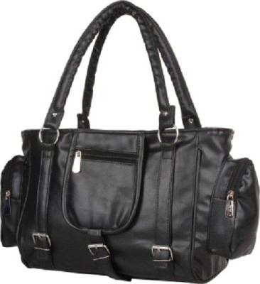 Quality dot com Hand-held Bag(Black)