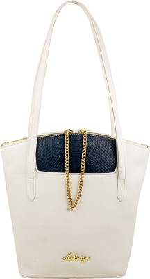 Hidesign Tote(White, Blue) at flipkart