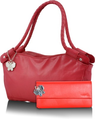 BUTTERFLIES Hand-held Bag(Red)