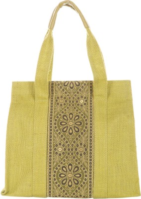 Jute Cottage Hand-held Bag(Green)