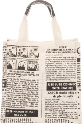 Jute Cottage Hand-held Bag(White)