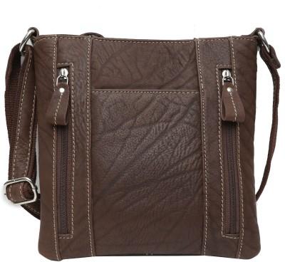 Leather Junction Men Brown Messenger Bag