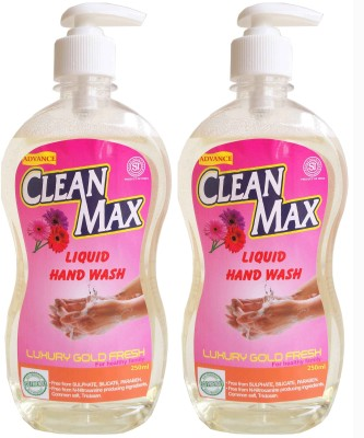 Cleanmax 250ml -Pack of 2- (LUXURY GOLD FRESH)(250 ml, Pump Dispenser, Pack of 2)