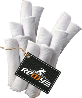 Readybee Extra Premium Exquisite Pure White Stripe Handkerchief(Pack of 12)