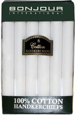 Bonjour Cotton Hanky Handkerchief(Pack of 6)
