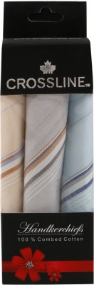 CROSSLINE LIGHT COLOR MENS COTTON handkerchief(Pack of 3)  available at flipkart for Rs.105