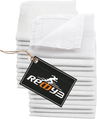Readybee Extra Premium Exquisite Pure White Handkerchief(Pack of 24)