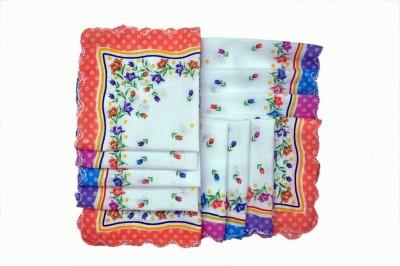 Belle Girl Kids Multi Color Cartoon Print Regular Handkerchief(Pack of 12)