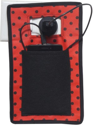 Pretty Krafts Mobile Holder during Charging - Travel Assist Stand - Mobile Carrying Bag/Accesory - Cellphone Cover _Black Accessories Organizer( )  available at flipkart for Rs.106