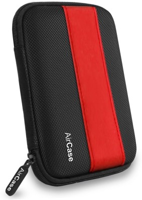 Airplus Pocket Hard Drive Pouch 2.5 inch External Hard disk cover(For Western Digital, Seagate, Sony, Transcend, ADATA, Hitachi, iomega, Toshiba, Dell, Lenovo, HP, other 2.5 Inch Hard Drive Disk., Red-Black)  available at flipkart for Rs.359