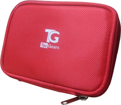 TacGears TGHDDP1R 2.5 Inch Hard Drive Pouch(For 2.5, Red)