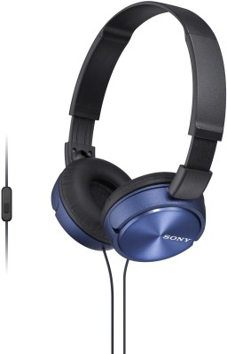 Sony MDR-ZX310AP Wired Headset with Mic(Blue, Over the Ear)  available at flipkart for Rs.999