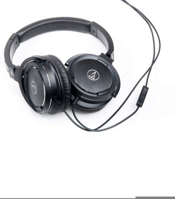 Audio Technica ATH-WS55i BK Wired Headphone(Black, Over the Ear) at flipkart