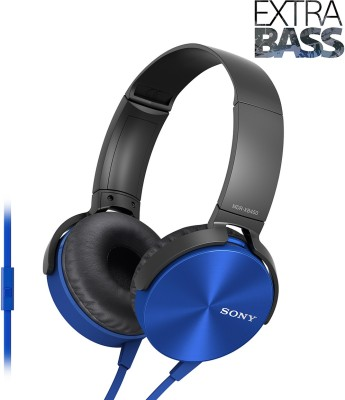 Sony MDR-XB450AP Extra Bass Wired Headset With Mic