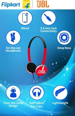 JBL T 26C Headphone(Red, On the Ear) 1